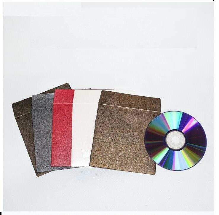1000pcs Custom Make Paper Sleeves Envelopes Logo Stamp Media Cd Dvd