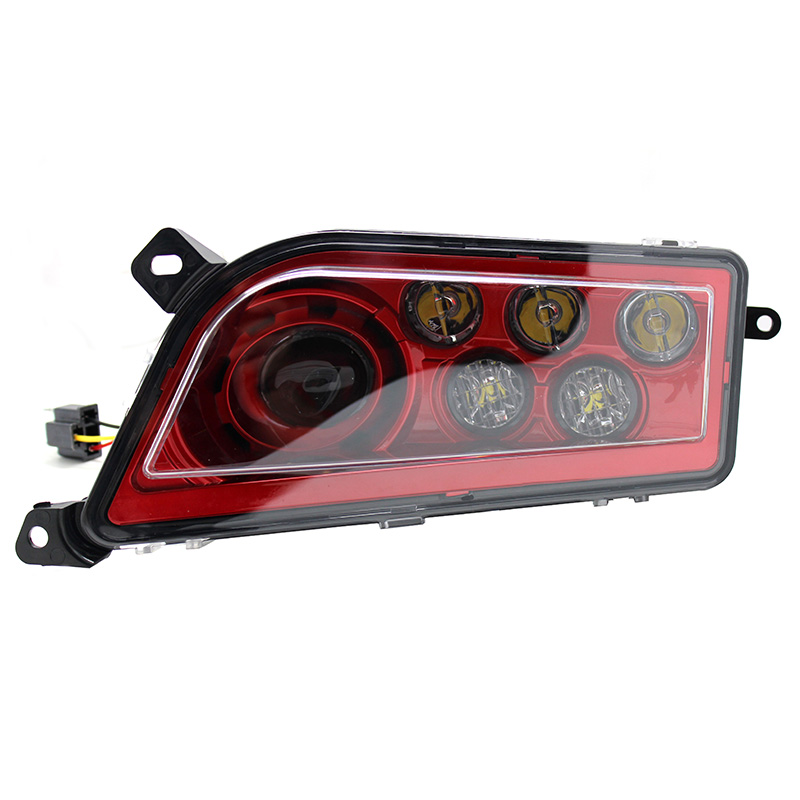Pair Red LED Headlights Replacement For Polaris RZR 1000 XP & RZR 900 S 2014 2017
