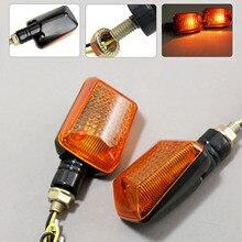 2Pcs 4Pcs Mototcycel 12V Turn Signal Indicator Light Bulb Amber Blinker Flash Yellow Lense ATV Bike Lamp Motor Part
