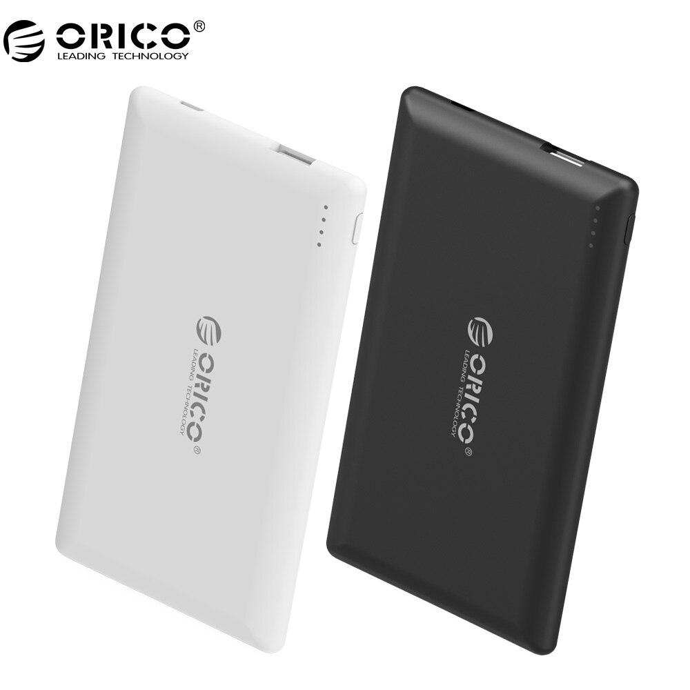 ORICO Energienbank Externe Batterie Tragbare 5000 mAh Mobile Backup Bank Ladegerät Eingebaute Polymer-akku