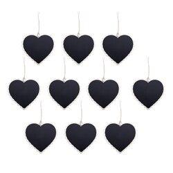 HOT-10 sztuk Mini wiszące tablica drewno/łupek tablica czarny wiszące drewno zapisywalny wymazywalna tablica w tablica ogłoszeń