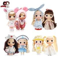 Ddung 25cm Doll Stuffed Toys Plush Cosplay Animals Soft Kids Baby Toys for Girls Birthday Gift Kawaii Cartoon Angela Rabbit