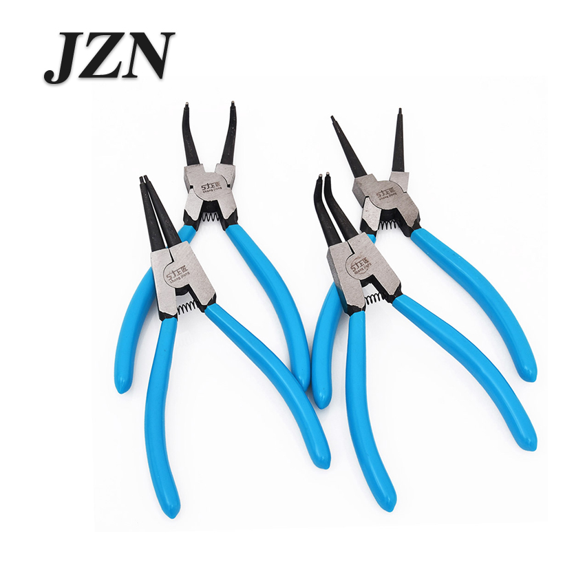4pcs 7inch Circlip Plier Internal External Bent Straight Snap Ring Circlip Pliers Tool High Quality Circlip Plier Set Accessorie Modern Techniques Automobiles & Motorcycles