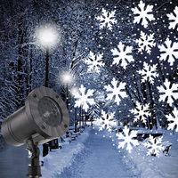 Mini Snowfall Projector Christmas Snowflakes LED Laser Light Snow Falling Outdoor Waterproof Xmas New Year Party Decor Lamps