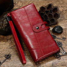 Wholesale New Brand Genuine Leather Women Wallets Fashion Wallet Femal Multi Function Coin Money Pocket Cell Phone
