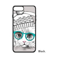 Pets Lover Cats Meow Paws Black Cat Painting Pattern Colorful Art Phone Case For IPhone X