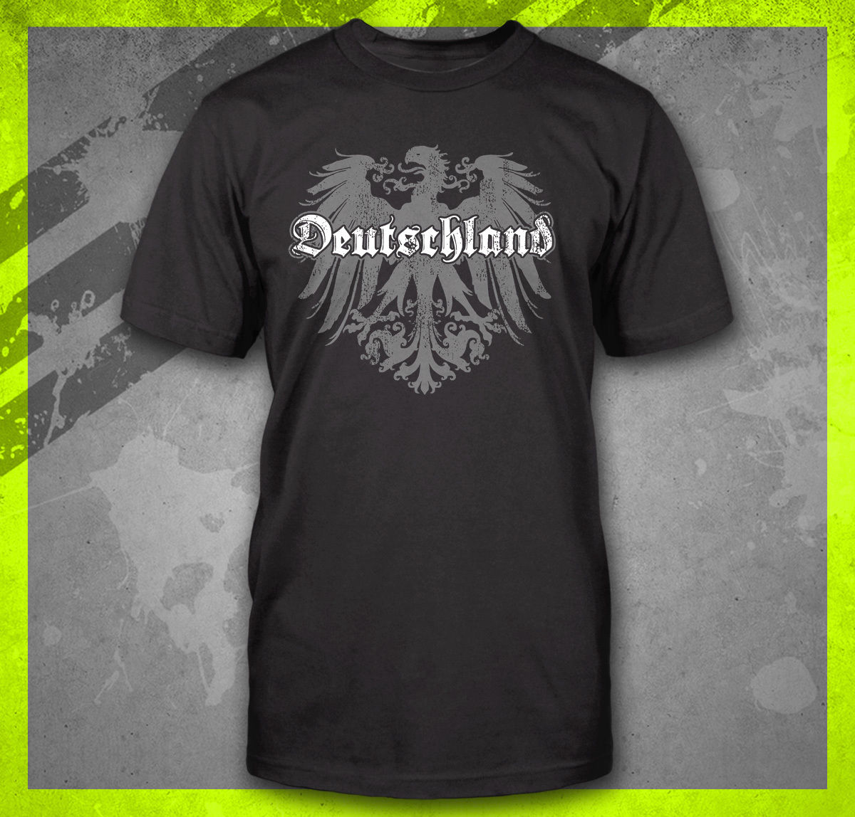 <font><b>DEUTSCHLAND</b></font> GERMAN FLAG CREST GERMANY EAGLE TEE SOCCER FOOTBALL FUNNY T-SHIRT Cool Casual pride t shirt men Unisex New Fashion image