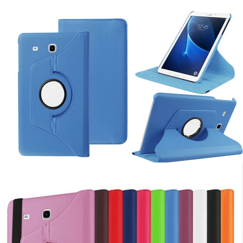 360 Degree For Samsung T280 Rotating Standing PU Leather Funda For Samsung Galaxy Tab A 7.0 T280 T285 Flip Protective Tablet Cas protective 360 degree rotating pu leather case for samsung galaxy note 10 1 n8000 deep pink