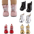 """Fashion Shoes Lace Up PU Warm Boots Shoes for 18"""" American Girls Dolls Boots Dolls Accessories Girl Birthday Baby Toys for Child"""