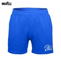 Marca Culturismo Ropa Shorts hombres Ropa Pantalones Cortos de Fitness Joggers Entrenamiento MMA Gimnasios Para Hombre Bolsillos Elásticos de La Cintura Tamaño XXL