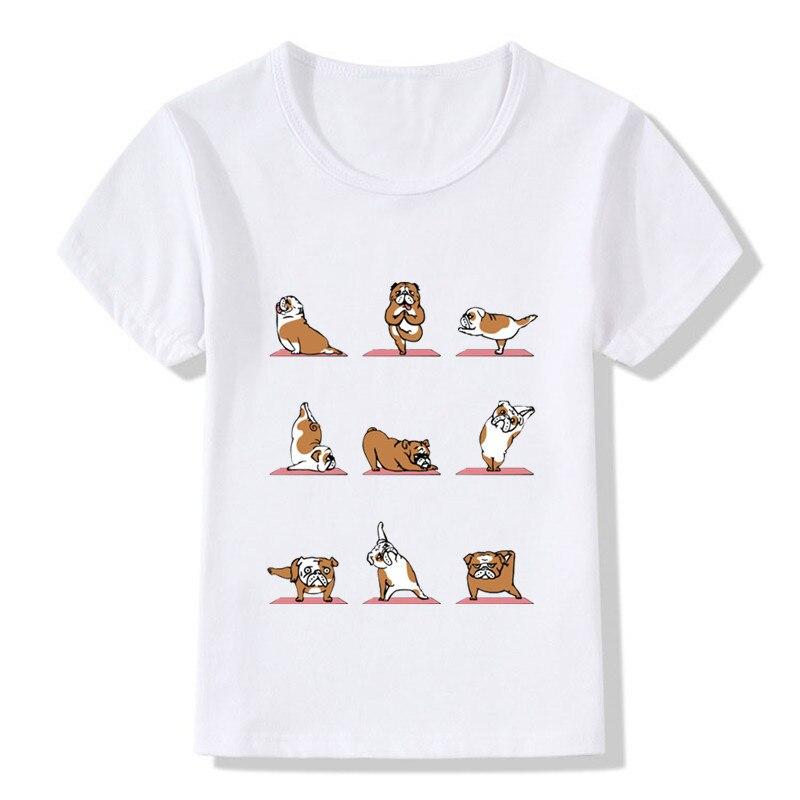 2018 Kinder Katze/soth/kaninchen/mops/englisch Bulldog T-shirt Kinder Sommer Tops Mädchen Jungen Kleidung Baby T Hemd, Hkp2155 FüR Schnellen Versand