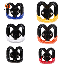 POSSBAY Red Black Mental Motorcycle Hook Luggage Bag Hanger Helmet Claw Double Bottle Carry Holders for ATV Moto Accessories