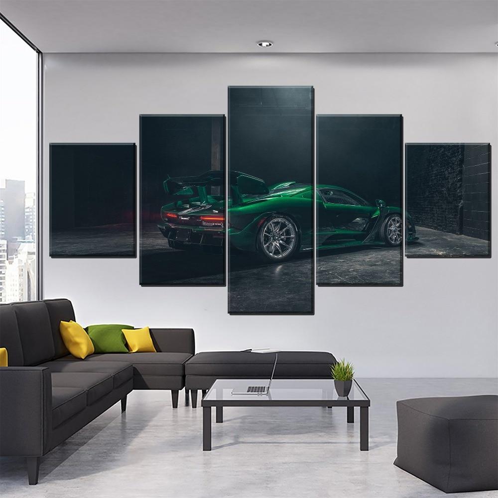 wall-art-poster-decorative-framework-5-panel-mclaren-font-b-senna-b-font-emerald-green-car-painting-modern-living-room-wall-home-decor-artwork