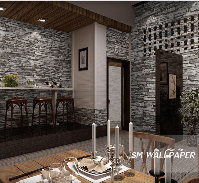 Factory Wholesale Interior Design Vinyl 3d Natural Brick