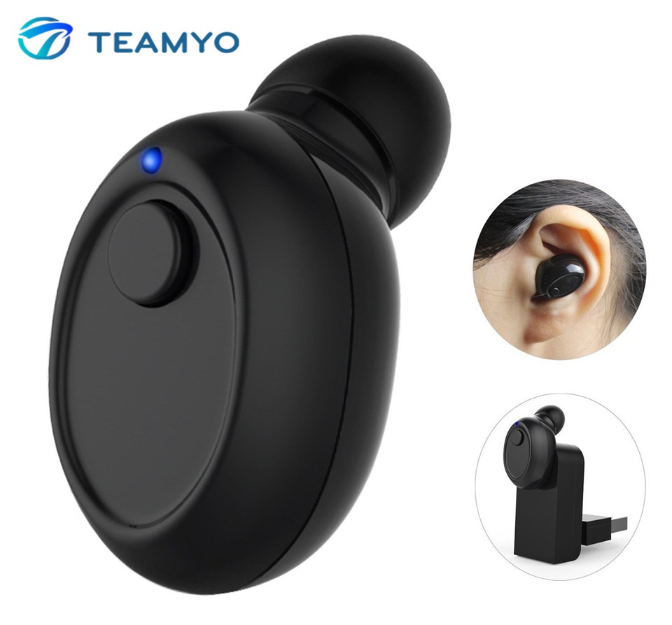 Teamyo Mini Pro Bluetooth 4.1 Earphone Invisible Earbuds Wireless Stereo Headset With Mic Handsfree auricolari ear buds hlton portable wireless bluetooth earphone handsfree mini headset stereo earbuds car fast charger with mic for smartphone pc