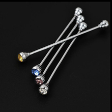 OBN Brand Silver Rhinestone Head  Mens Tie Collar Pin set  Shirt Skinny Tie Shirt with Collar Bars Jewelry