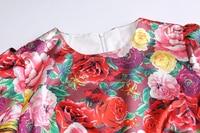 Vestido primavera verano midi vintage manga corta flores 4