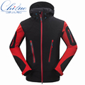 The new men's casual hooded coat jacket waterproof windproof composite velvet Soft shell Thin section jacket size M-XXL