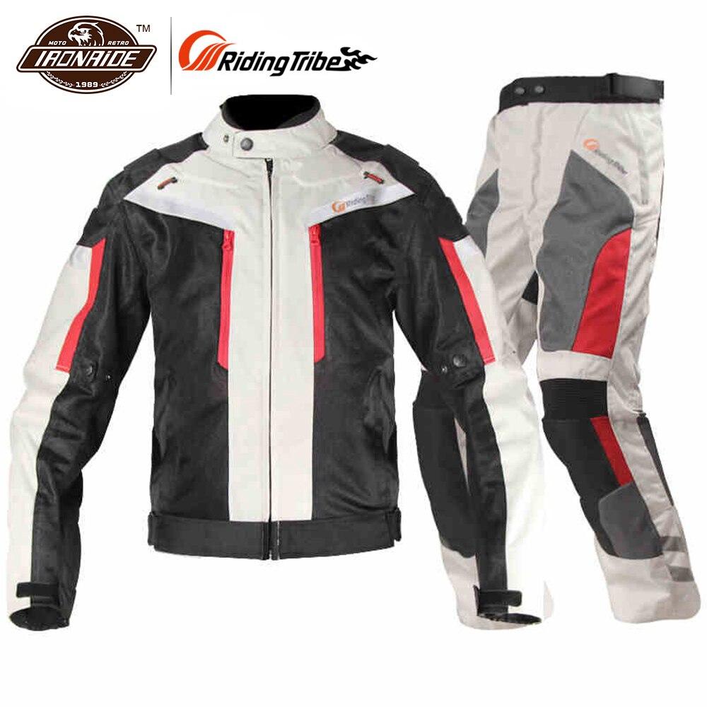 Équitation tribu Moto veste Moto pantalon costume Moto veste pantalon ensemble coupe-vent Moto Cruiser Touring vêtements imperméable