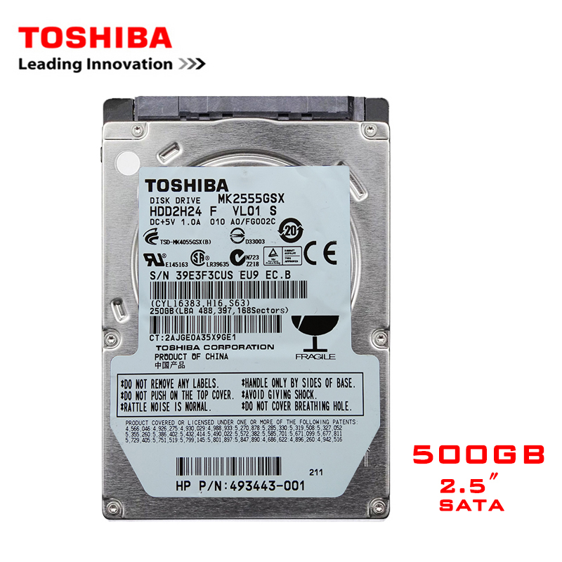"TOSHIBA Brand 500GB 2.5"" SATA2 Laptop Notebook Internal 500G HDD Hard Disk Drive 160MB/s 2/8mb 5400-7200RPM disco duro interno"