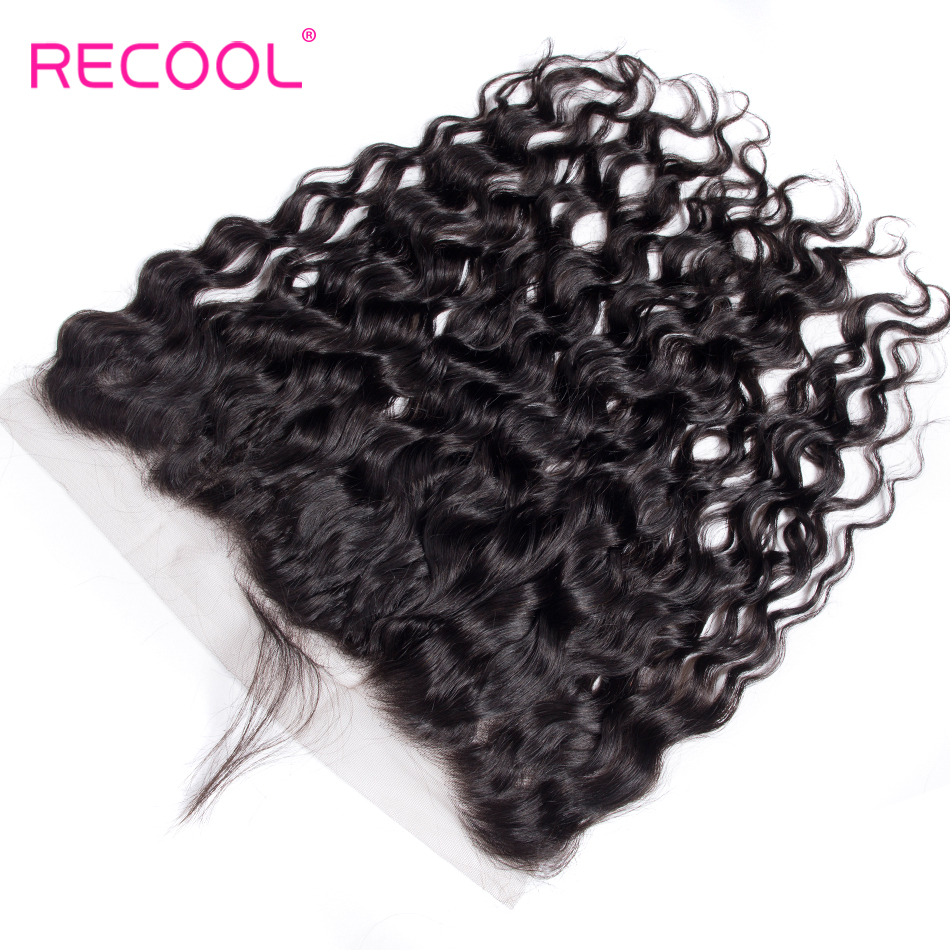 HTB1HE3lnwfH8KJjy1zcq6ATzpXaL Recool Hair Brazilian Water Wave Bundles With Closure Remy Hair Lace Frontal With Bundles Deal Human Hair Bundles With Frontal