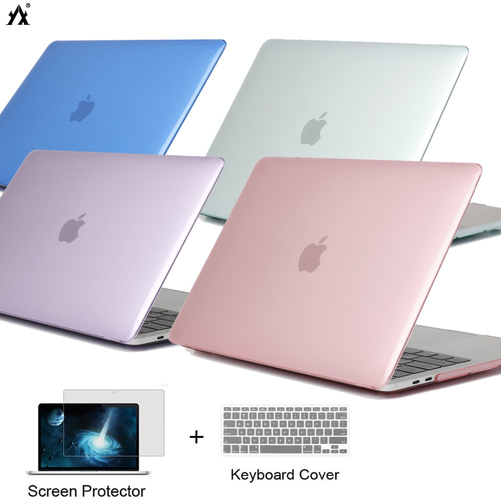 For Apple MacBook 2019Pro13.3 A2159  Transparent Rubberized Case+Keyboard Cover