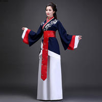 National Costume Ancient Chinese Cosplay Costume Elegant Hanfu Black Lady Chinese Folk Dance Tang Dynasty Clothing
