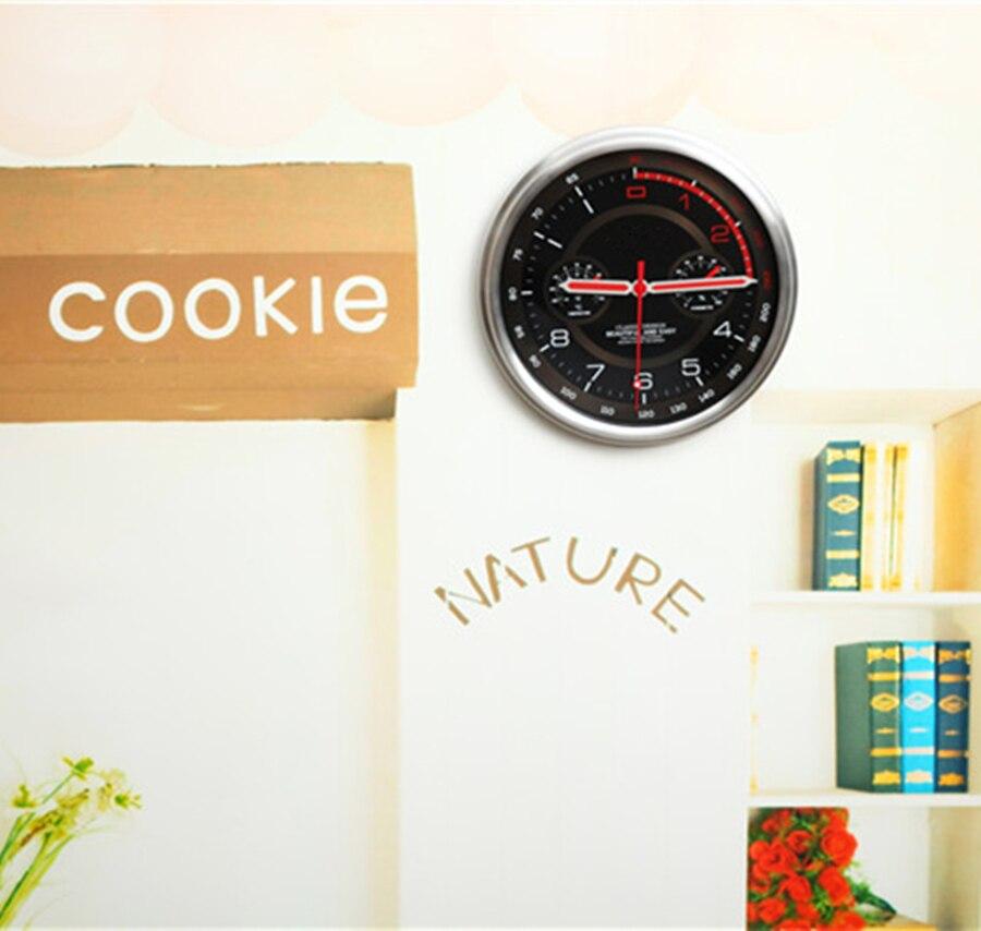 Horloge murale moderne en métal thermomètre hygromètre Auto Pow patrouille Guess montre montres mécanisme Relogio Parede cadeau d'anniversaire 50ZB35 - 5