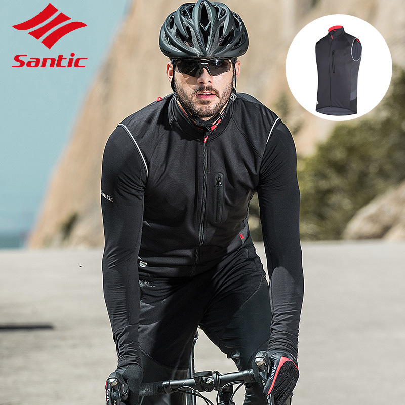 Santic Men Spring Autumn Pro Cycling Jacket Warm and Windproof Short Sleeve Sports Cycling Tops Cyclig