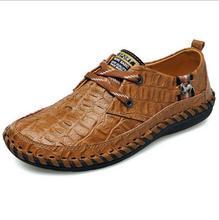Nouveau Crocodile Imprimer femmes Chaussures En Cuir Véritable Mocassins Appartements Dentelle-up Respirant Mode Cheval Décoration Chaussures 39-44