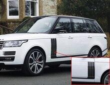 Chromeประตูรถด้านข้างช่องระบายอากาศชุดสำหรับLand Rover Range Rover Vogue SE Autobiography 2013 2018อุปกรณ์เสริมรถยนต์จัดแต่งทรงผม