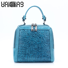 UNICALLING genuine leather women bag female stylish shoulder small handbag