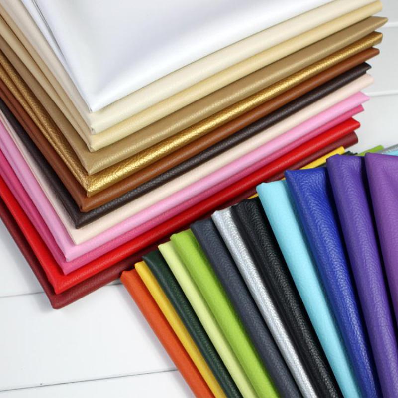 50X68 cm tela de imitación de cuero para sofá de tela de cuero Artificial para ropa de papel sintético de la PU de cuero de tapicería