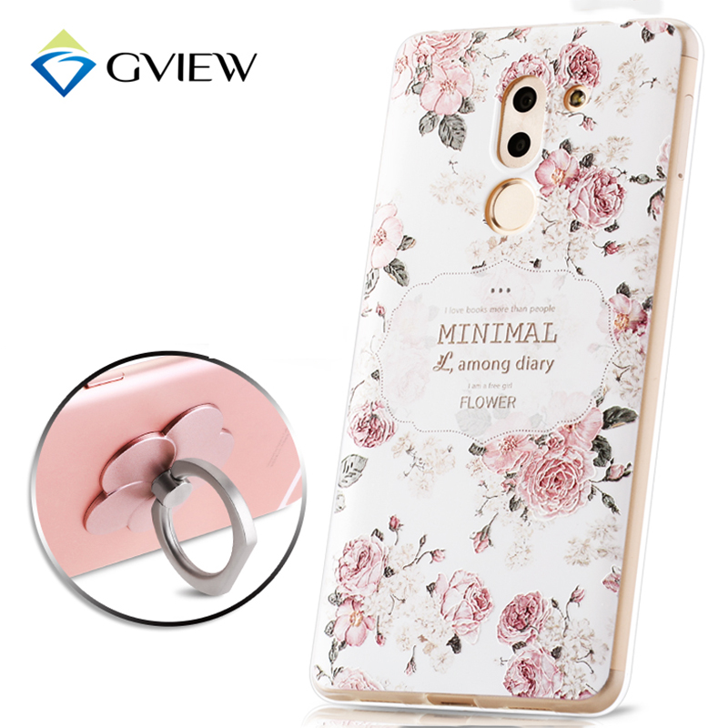 Gview High Quality 3D Relief Print Soft TPU Back Cover Case For Huawei Honor 6X Phone Bag Luxury Coque Fundas For Honor 6X