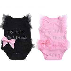 Gifts Baby Girls White Romper Infant Lace Jumpsuit Bodysuit Tutu Dress Clothes Outfits baby dresses girl(China)