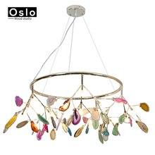 Candelabro de ágata G4 de colores, Luminaria Led creativa luciérnaga G4, candelabro, Lustre, lámparas de iluminación para comedor