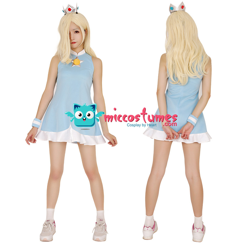 Image 2 - Mario Tennis Rosalina Cosplay Costume Dress with Crown-in Movie & TV costumes from Novelty & Special Use