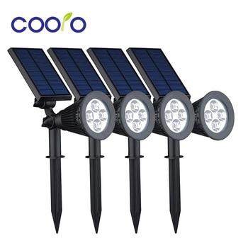 Waterproof IP44 LED Solar Light 4LEDS ABS Solar Power Energy Garden outdoor Ligh White color led solar lamp 4pcs/lot