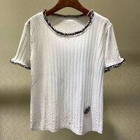 Летняя футболка женская футболка с коротким рукавом Футболка с круглым вырезом женские Топы повседневные