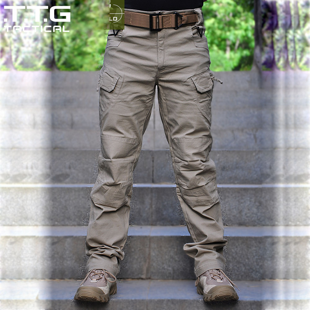 Male Military Cargo Pants City Urban Tactical Pants Multi pockets Breathable Lightweight BDU Swat Tactical Trousers