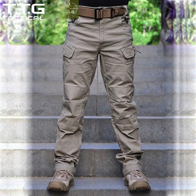 US $37.84 20% OFF|Männliche Militärische Cargo hosen City Urban Taktischen Multi taschen Atmungs Leichte BDU Swat Taktische Hosen in Männliche