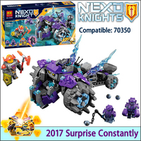 2017 NEW Bela Nexus Knights Building Blocks Set The Three Brothers Kids Gift Bricks Toys Compatible