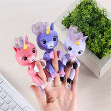 Фотография High Quality Fingerling Interactive Baby Unicorn Toy Smart Colorful Fingers Llings Smart Induction Toy Christmas Gift Kids Toys
