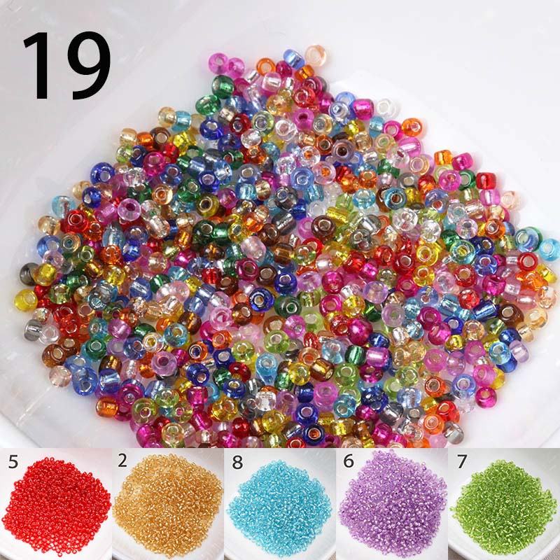 Beads 2mm 1500pcs Silver Lined Crystal Seed Glass Spacer Beads For Jewelry Handmade Diy Free Shipping