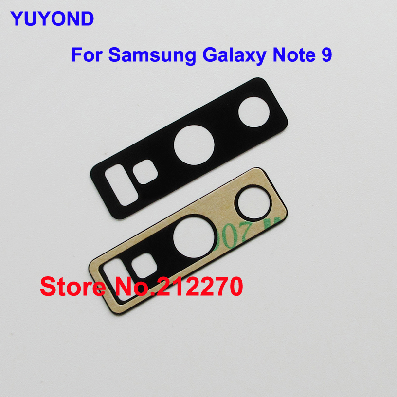 YUYOND Back Rear Camera Glass Lens Replacement With Adhesive Pre installed For Samsung Galaxy Note 9
