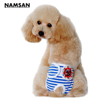 Namsan 3Pcs With 3Colors Adjustable And Washable Dog Diapers Dog Sanitary Pantie With Magictape Works For