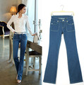 New 2017 100% cotton women jeans woman flare Denim pants | Fashion famous brand jeans size S-XL womens jeans