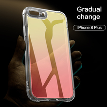 Lantro JS Case for iPhone 7Plus 8Plus Cases Trendy Gradually Transparent Change Color Only
