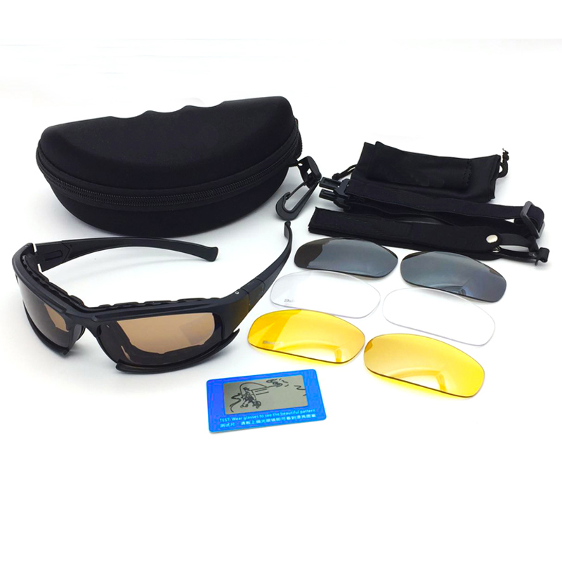 daisy X7 Army Goggles Sunglasses Men Military Sun glasses 4 Lens Kit For Mens War Game Tactical Cycling Glasses Outdoor