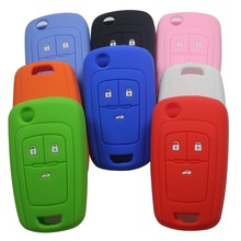 3 Buttons Remote Silicone Rubber Car Key Case Cover for Chevrolet Cruze Holder